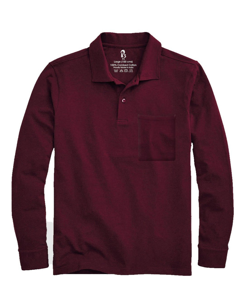 Ruby Marquee Cuffed Polo (MRP inclusive of all taxes) Polos P3