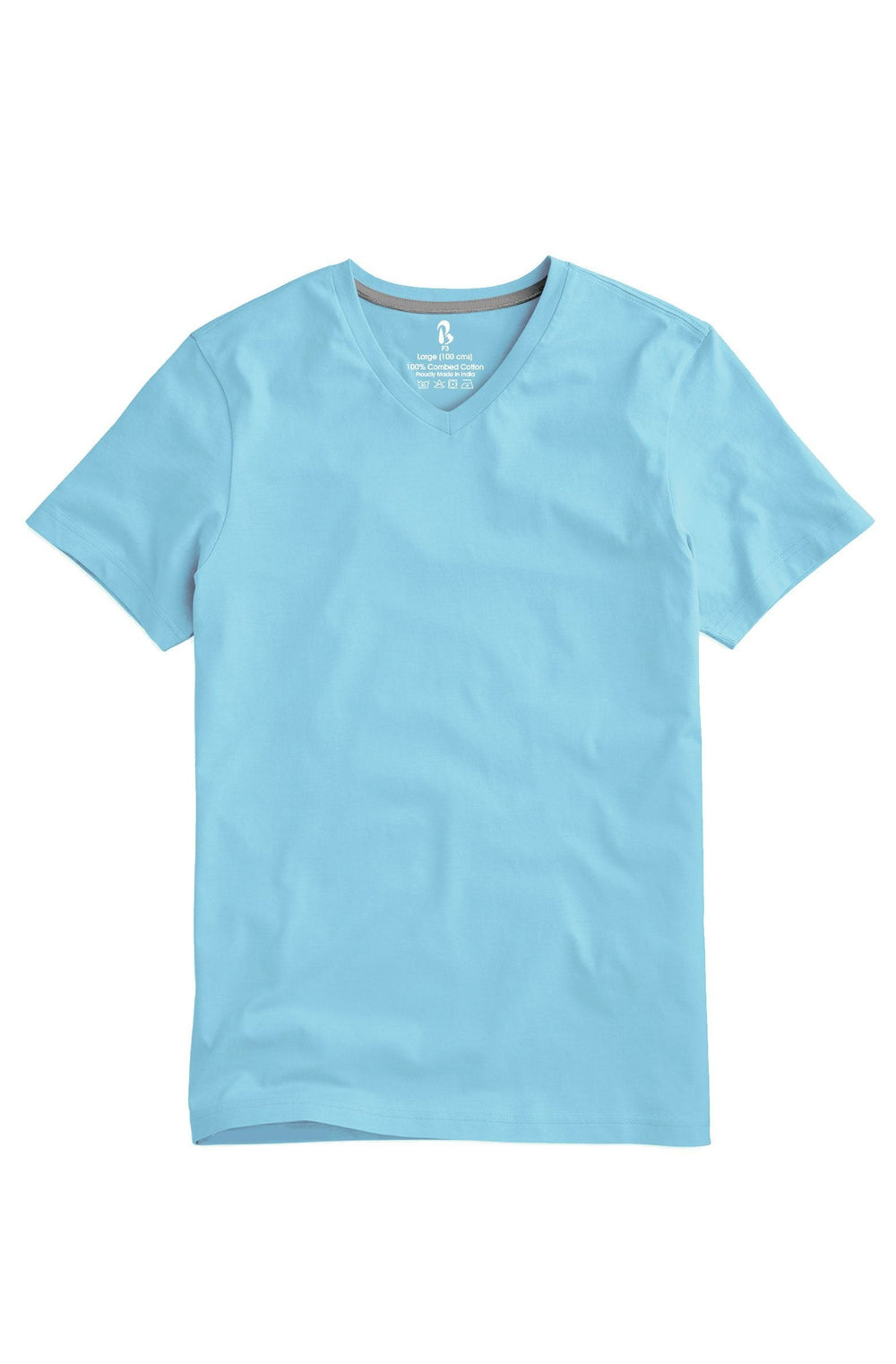 Soft Sky V-Neck Tee (MRP inclusive of all taxes) V Neck T-Shirt P3