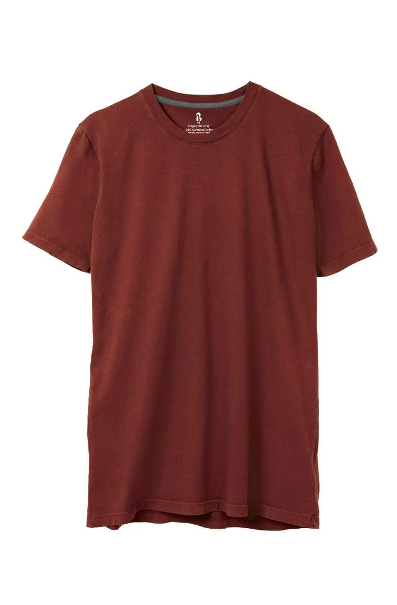 Terracotta Crew Neck Tee (MRP inclusive of all taxes) Crew Neck P3 Small / 90 cms / Ideal for Shirt 38""