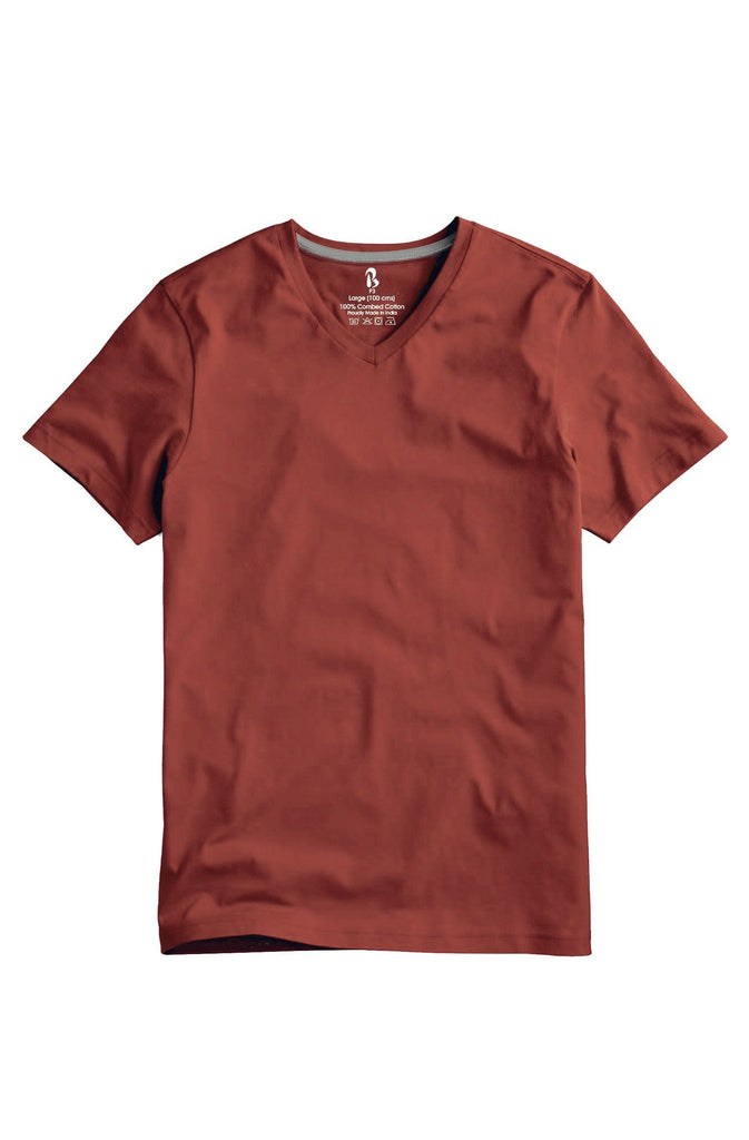 Terracotta V-Neck Tee (MRP inclusive of all taxes) V Neck T-Shirt P3