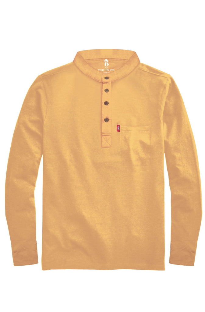 Thar Yellow Full Sleeved Mandarin Henley (MRP inclusive of all taxes) Mandarins P3