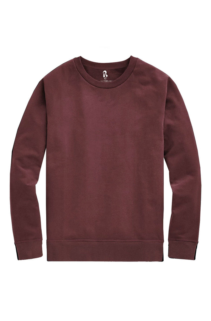 Thermabrium Burgundy French Terry Sweatshirt (MRP inclusive of all taxes) Sweatshirt P3