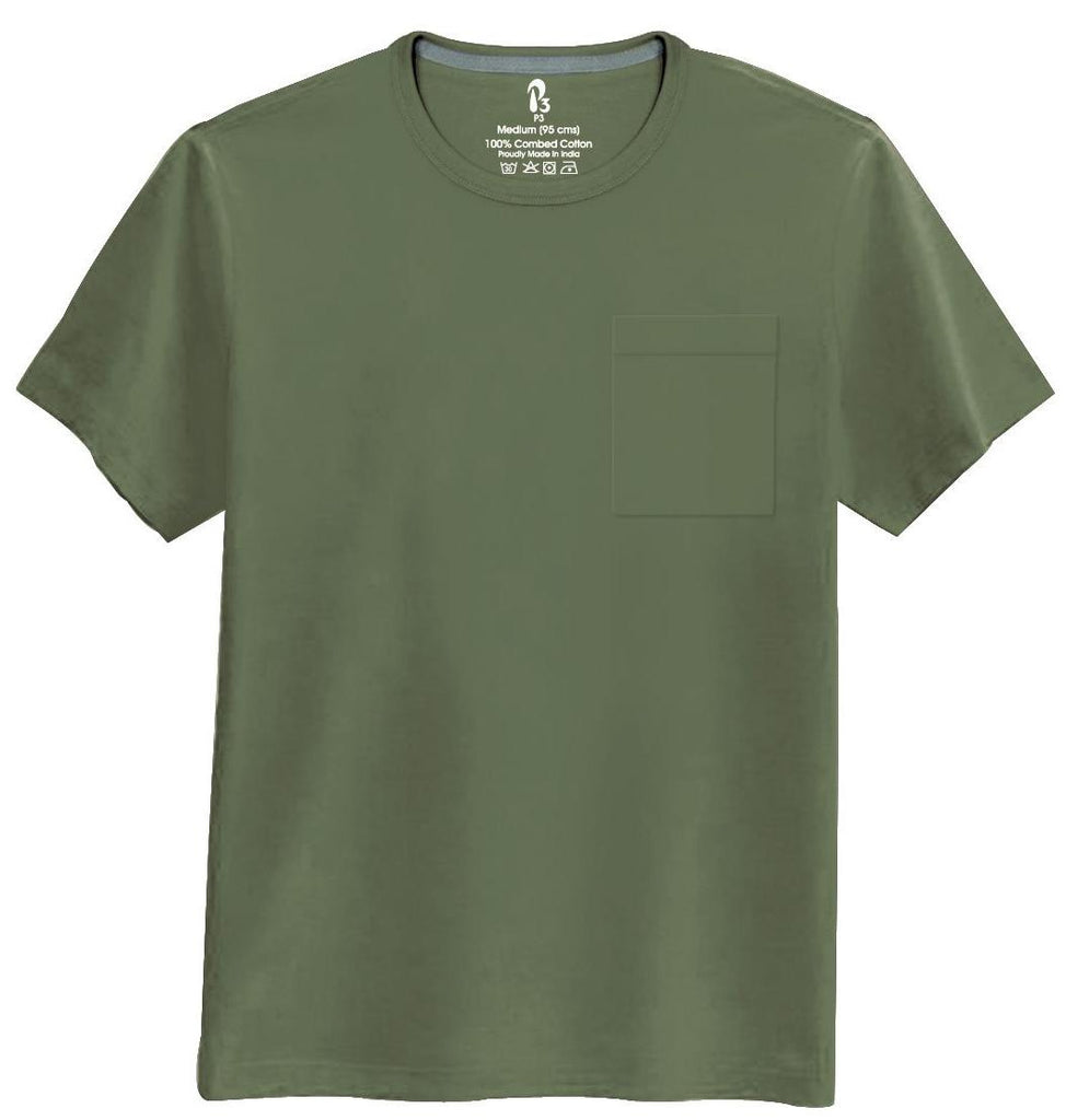 Commando Half-Sleeve Pocket Tee Crew neck Pocket Tee P3 Small