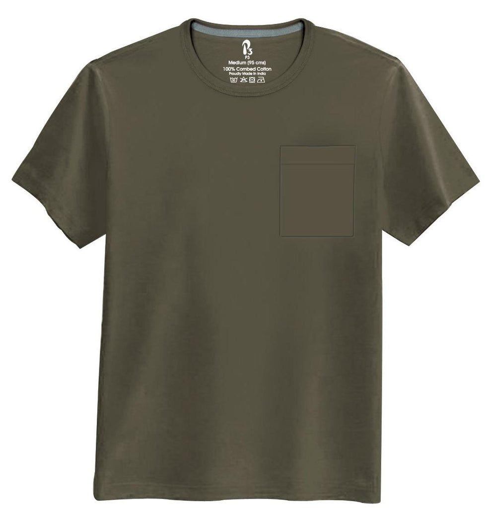 Deep Asphalt Half-Sleeve Pocket Tee Crew neck Pocket Tee P3 Small