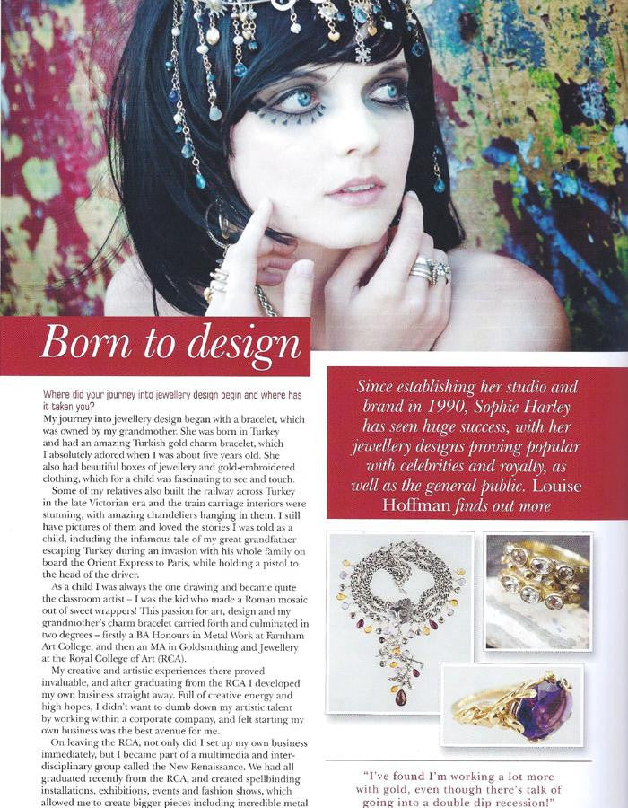 Jewellery Focus October 2011 issue features Sophie Harley