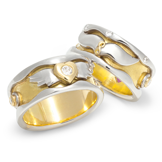 Bespoke wedding rings designed by Sophie Harley London.