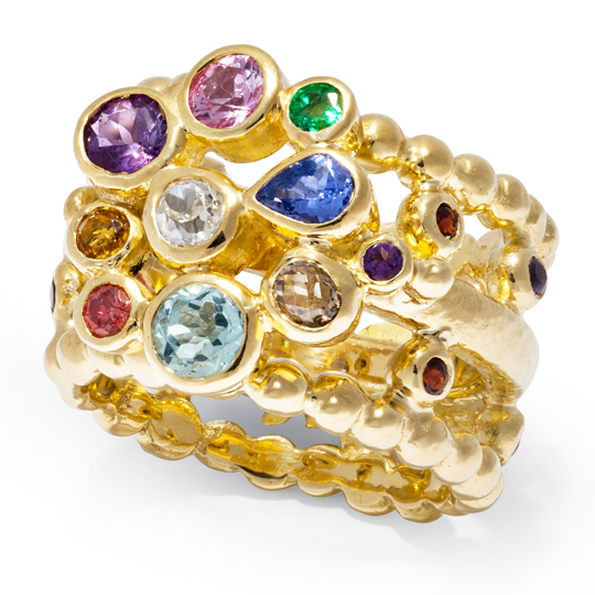 Bejewelled bespoke design ring by Sophie Harley London