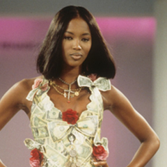 Naomi Campbell wears Sophie Harley necklace at LFW
