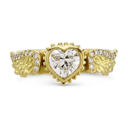 Venetian Wing Diamond Heart Ring