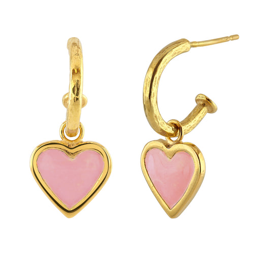 Large Pink Heart Earrings