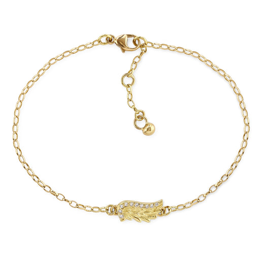 Yellow Gold Venetian Wing Bracelet