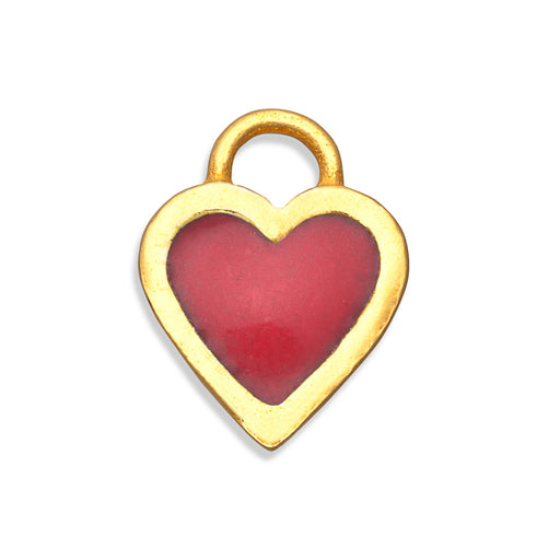 Red Classic Heart Charm