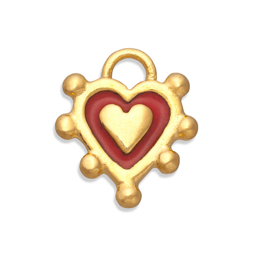 Red Sacred Heart Charm