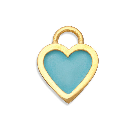 Turquoise Classic Heart Charm