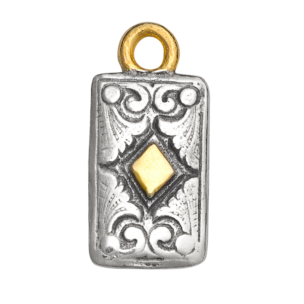 Diamond Card Charm
