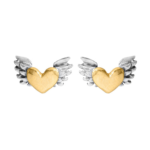 Chubby Winged Heart Earrings