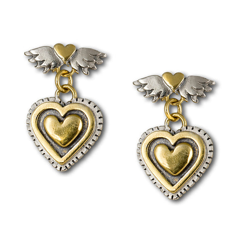 Vintage Heart Drop Earrings