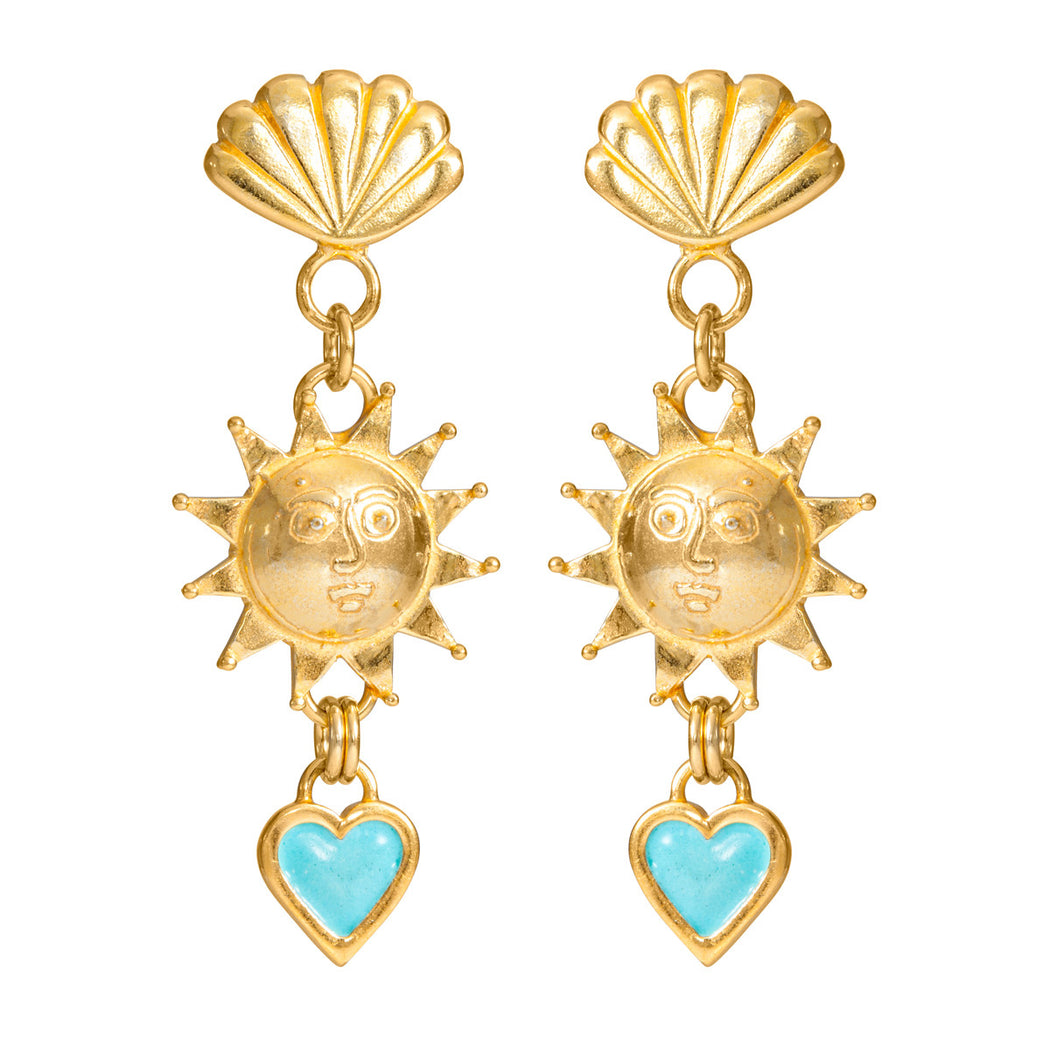 Solar Triple Drop Earrings