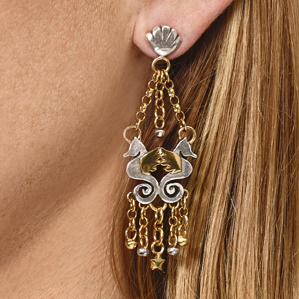 Gemini Seahorse Earrings