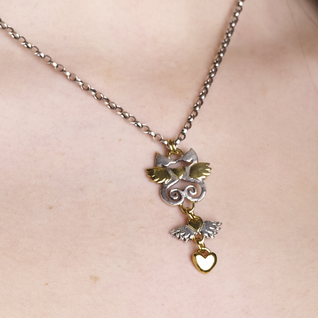 Kissing Seahorse Necklace