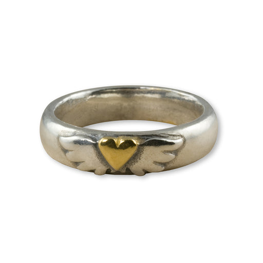 Fine Winged Heart Ring