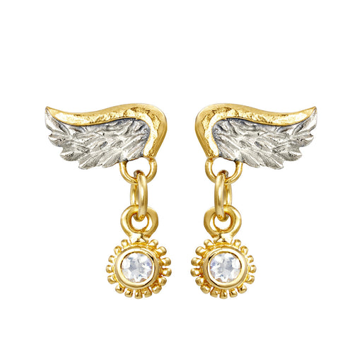 Venetian Wing & Gem Drop Earrings