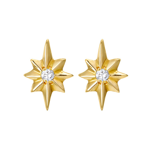 Diamond North Star Stud Earrings
