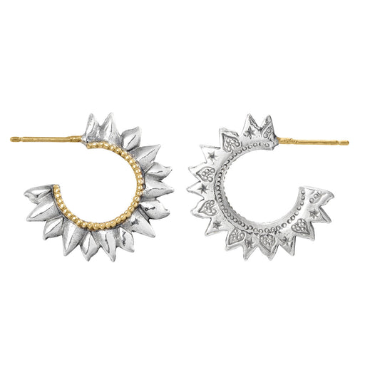 Solar Flare Hoop Earrings