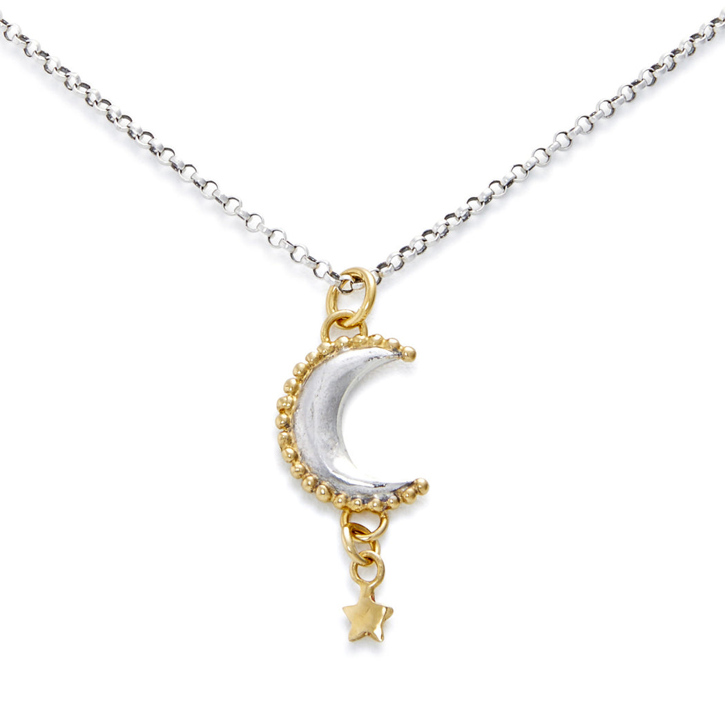 Luna Star Drop Necklace