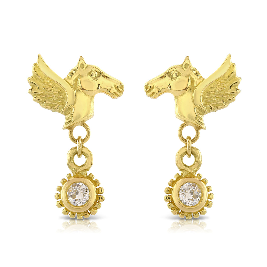Pegasus Diamond Drop Earrings