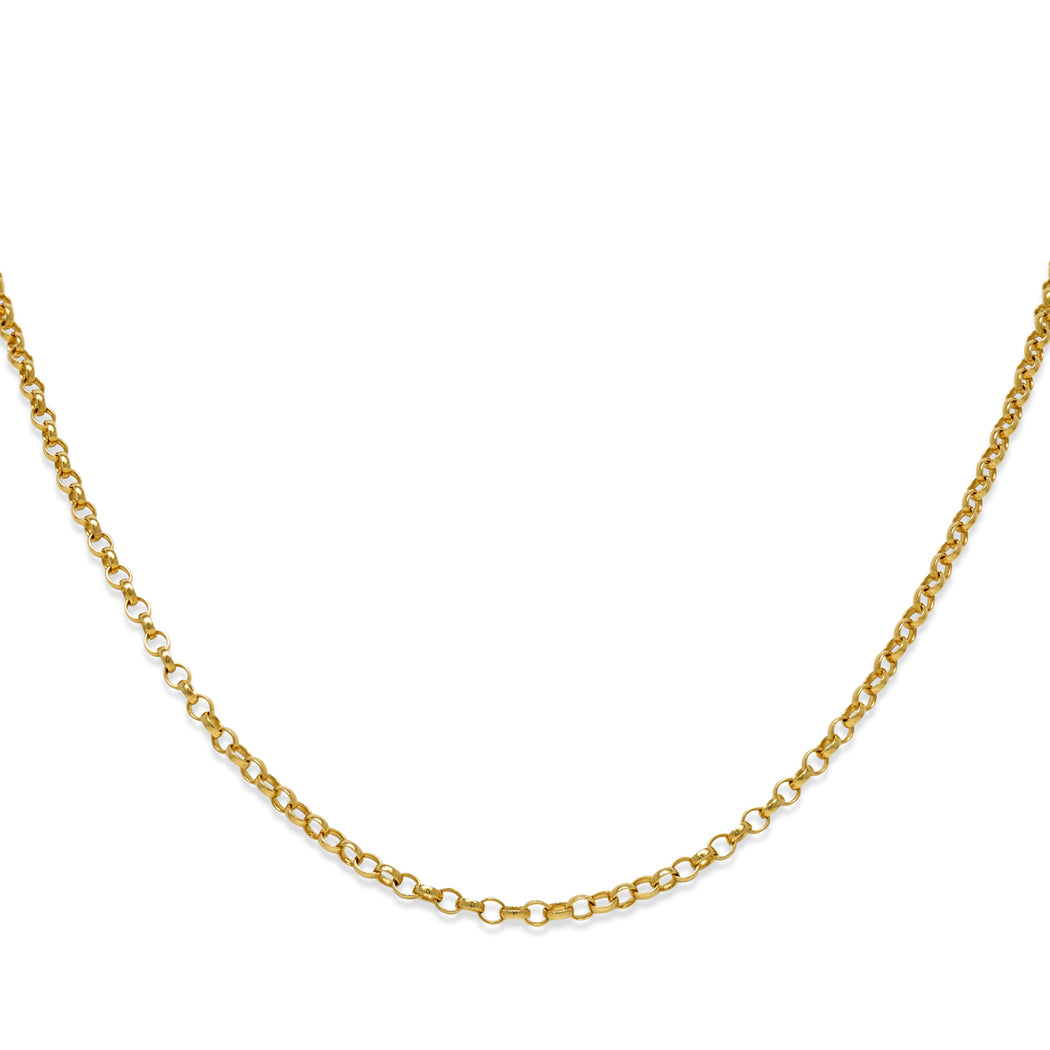 Gold Plated Fine Oval Belcher Chain Necklace