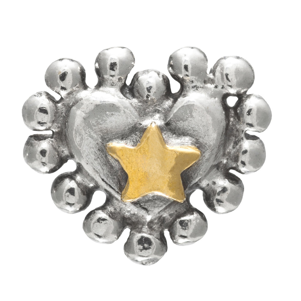 Halo Heart Stud Earrings