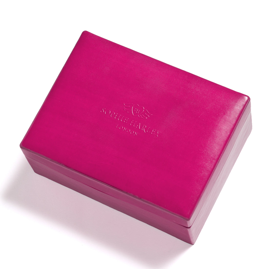 Fuchsia Leather Jewel Box