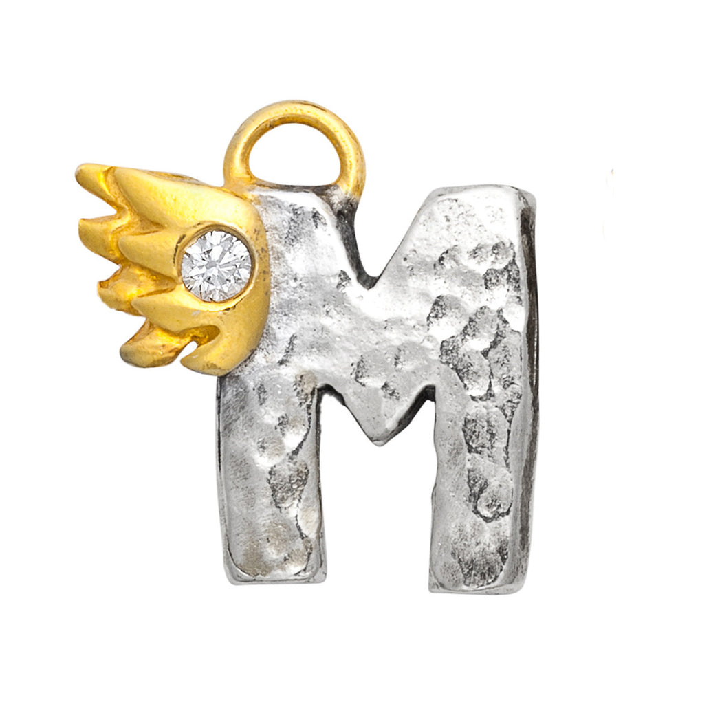 M With Diamond Charm