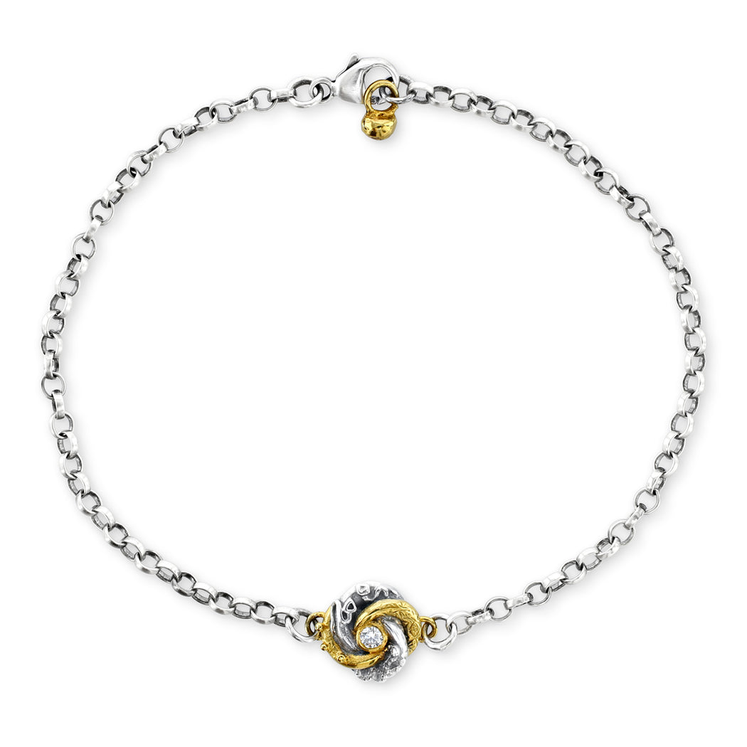 Diamond Set Tiny Loveknot Bracelet