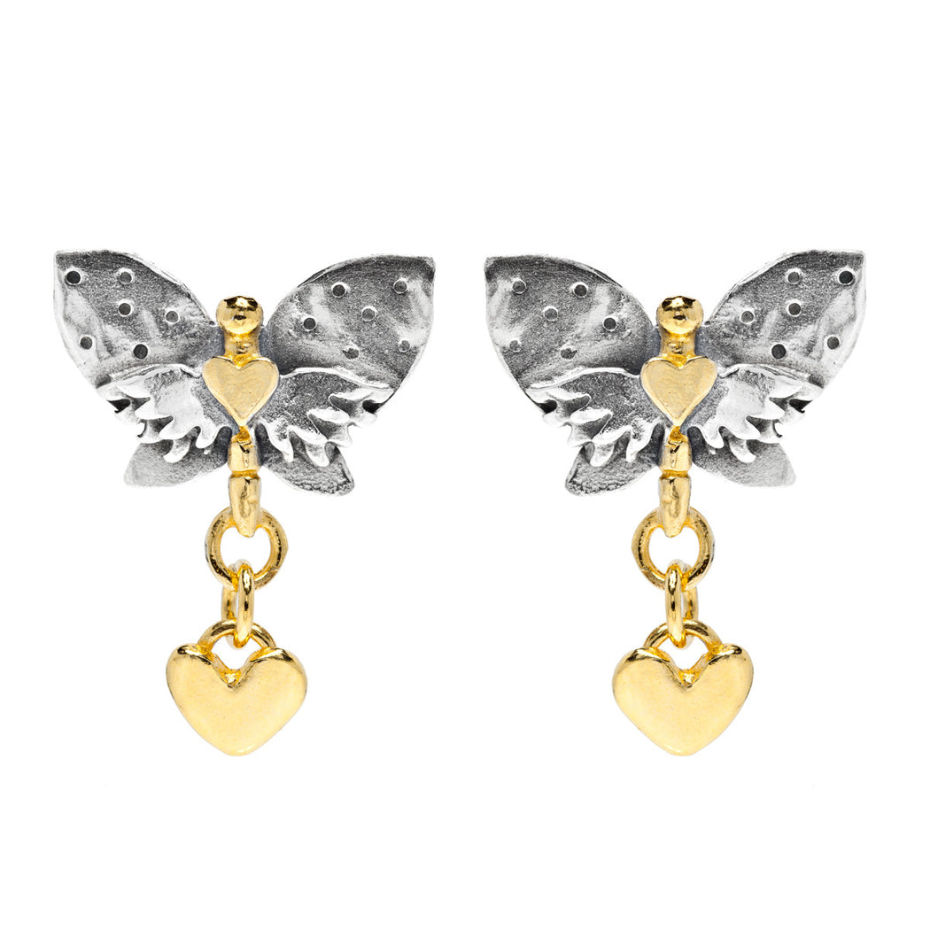 Spotty Wing Butterfly Earrings