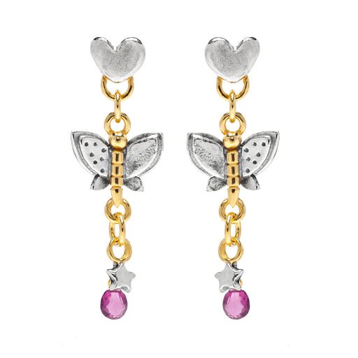 Classic Butterfly Drop Earrings
