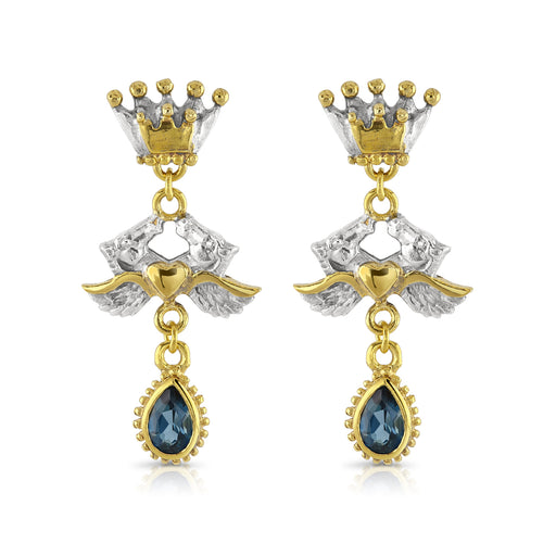 Adelphi Earrings with London Blue Topaz