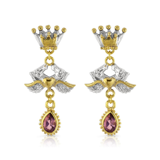 Adelphi Earrings with Rhodalite Garnet