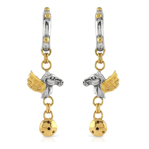Pegasus Long Drop Earrings