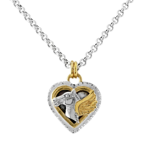Pegasus Layered Heart Necklace