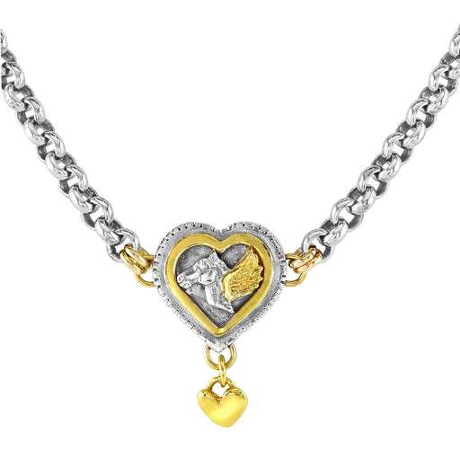 Pegasus Large Layered Heart Necklace