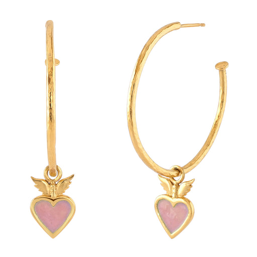 Highbury Heart Large Hoop Earrings