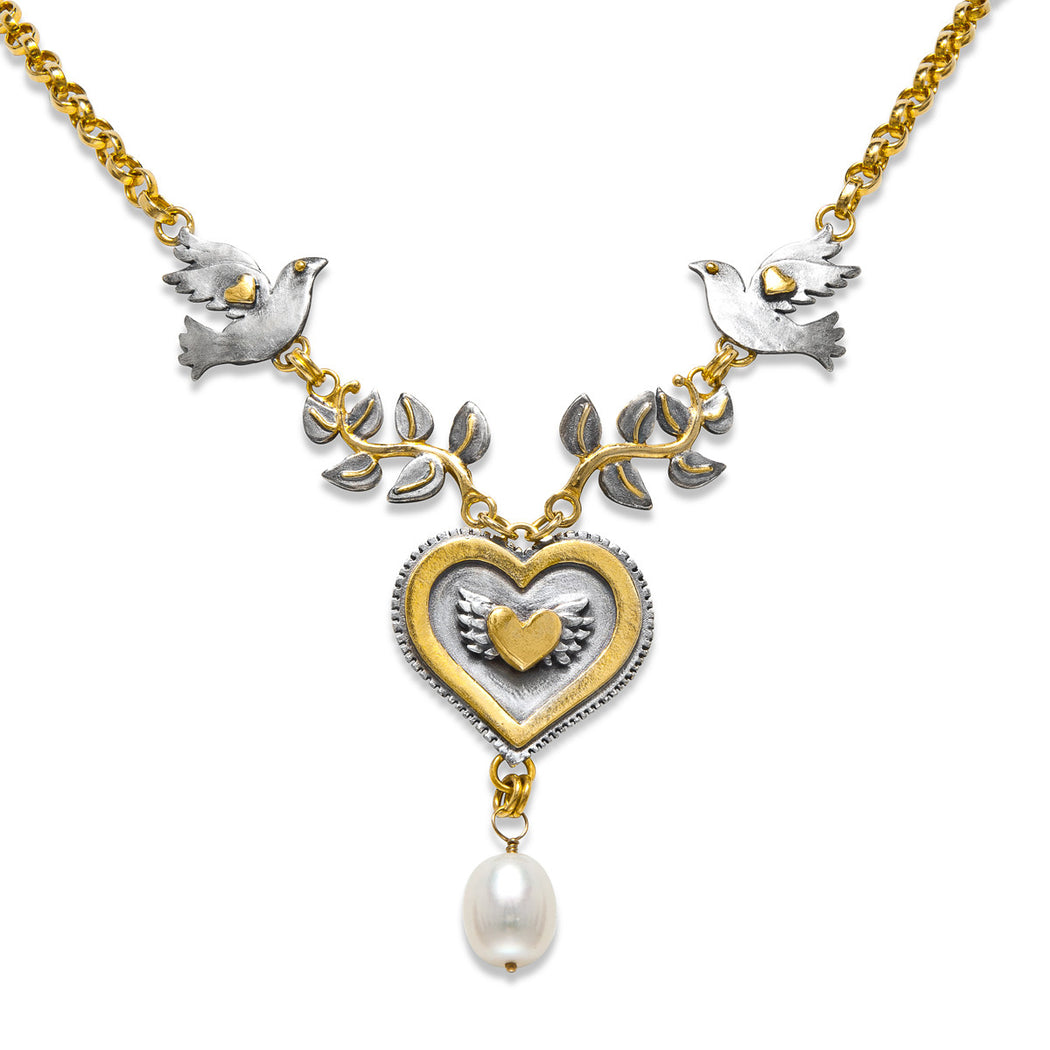Peace Pearl Necklace