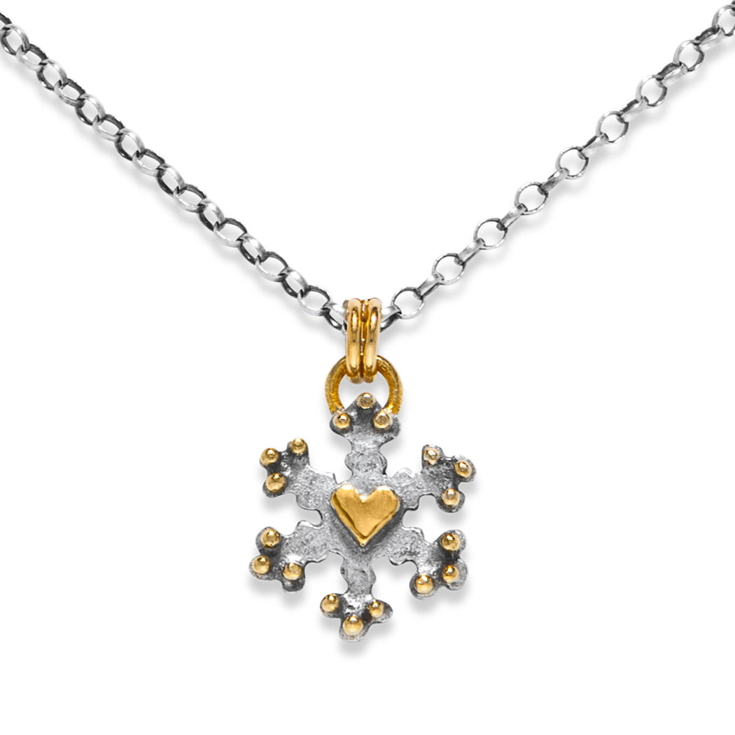 silver snowflake wexford faceted jewelers necklace