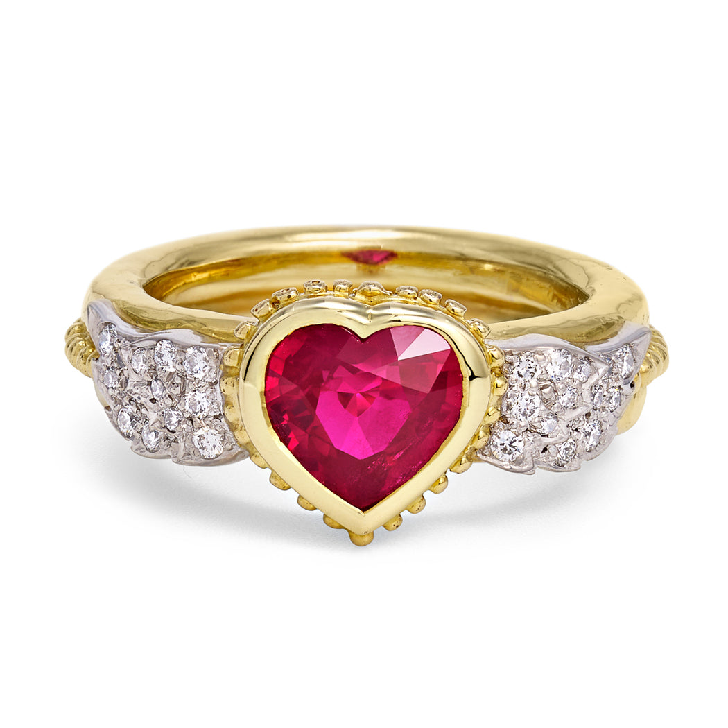 Ruby & Diamond Anniversary Ring