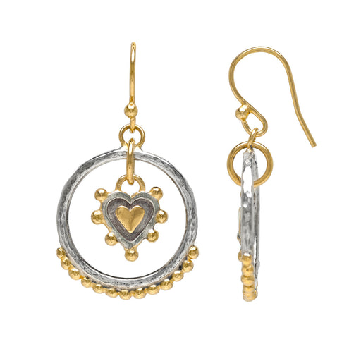Sacred Heart Circle Earrings