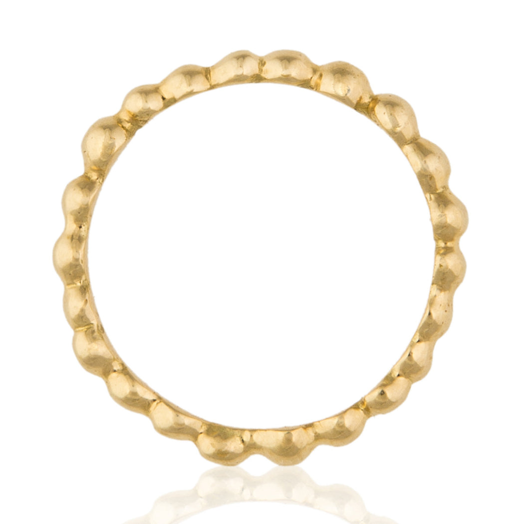 Yellow Gold Skinny Pebble Ring