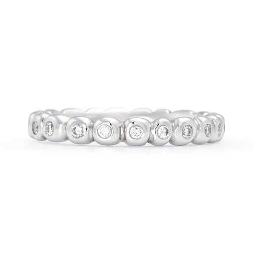 Diamond Set Pebble Ring