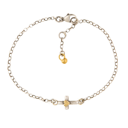 Teeny Tiny Cross Bracelet